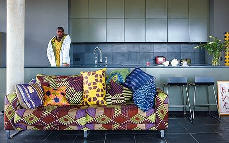 African prints in interior design african prints in fashion for Interior decoration ghana