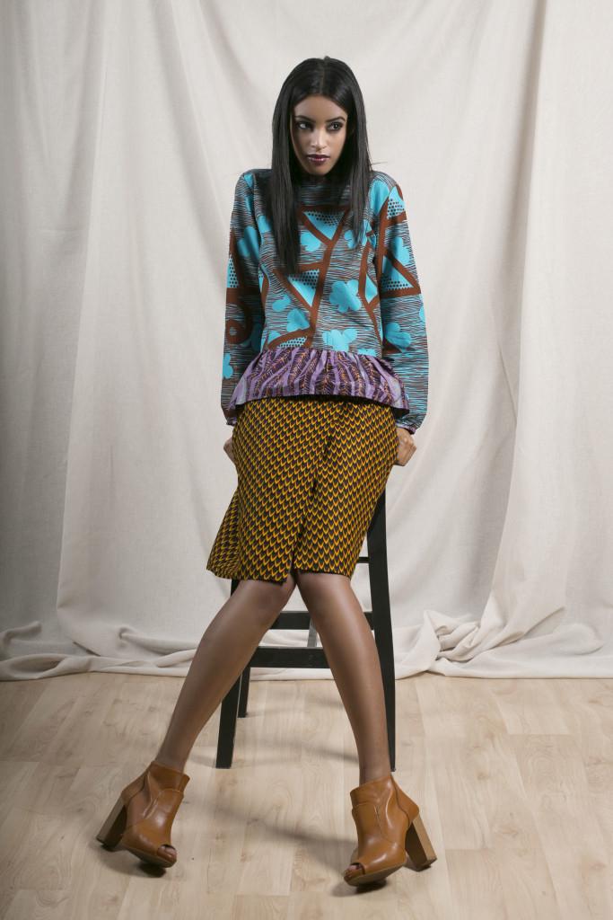 apif__ifescloste_Peplum Top + Iro Wrap Skirt