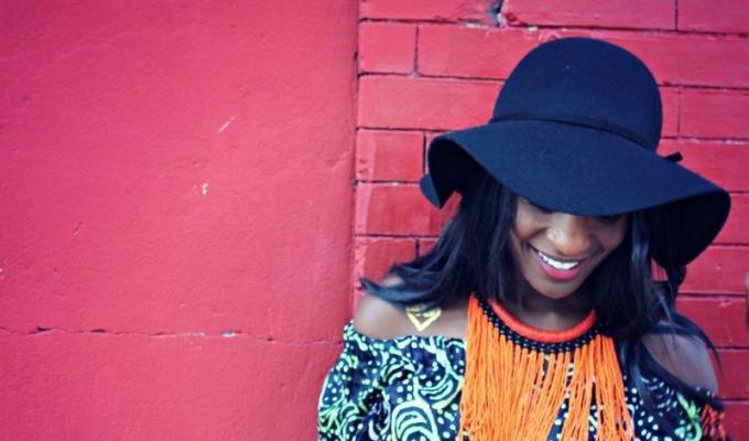 off-shoulder african print tops