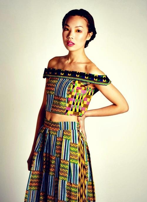 off-shoulder tops african print